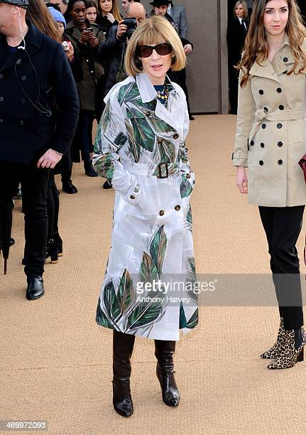 4f6af6c83e16 Anna Wintour attends the Burberry Prorsum show at London Fashion Week AW14  at Kensington Gardens on
