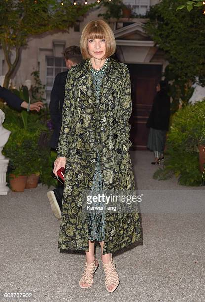 Anna Wintour attends the Burberry show during London Fashion Week Spring/Summer collections 2016/2017 at Makers House on September 19 2016 in London...