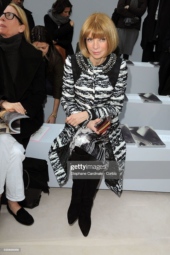 Anna Wintour attends the Celine Ready To Wear show, as part of the Paris Fashion Week Fall/Winter 2010-2011.