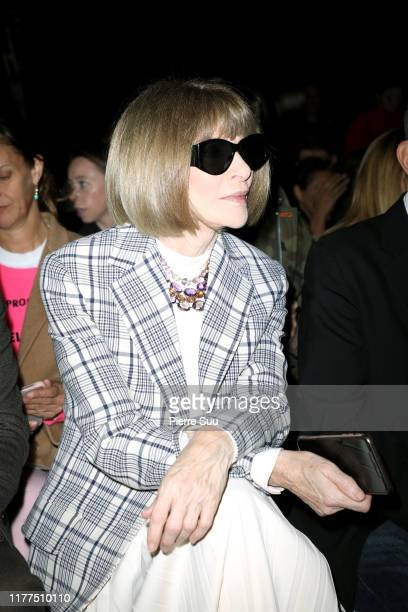 Anna Wintour attends the Celine Womenswear Spring/Summer 2020 show as part of Paris Fashion Week on September 27, 2019 in Paris, France.