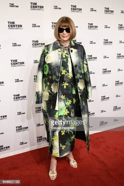 Anna Wintour attends The Center Dinner 2018 at Cipriani Wall Street on April 19 2018 in New York City