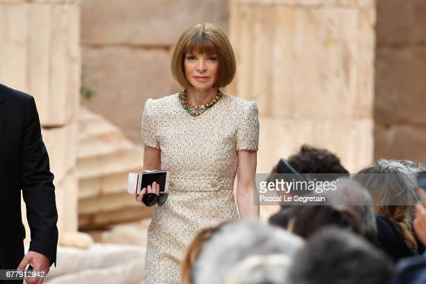 Anna Wintour attends the 'Chanel Cruise 2017/2018 Collection' at Grand Palais on May 3 2017 in Paris France