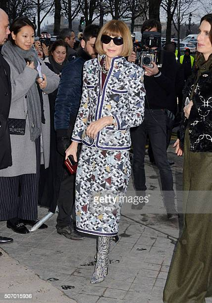 Anna Wintour attends the Chanel Haute Couture Spring Summer 2016 show as part of Paris Fashion Week on January 26 2016 in Paris France