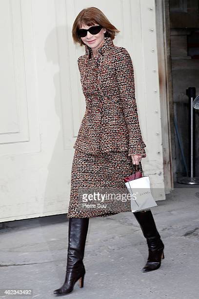 Anna Wintour attends the Chanel show as part of Paris Fashion Week Haute Couture Spring/Summer 2015 on January 27 2015 in Paris France