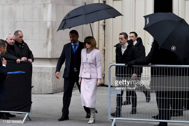 Anna Wintour attends the Chanel show as part of the Paris Fashion Week Womenswear Fall/Winter 2019/2020 on March 05 2019 in Paris France