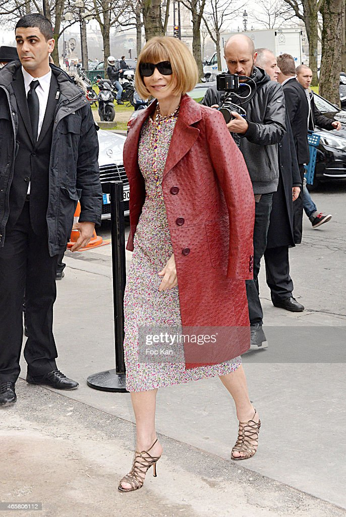 Anna Wintour attends the Chanel show as part of the Paris Fashion Week Womenswear Fall/Winter 2015/2016 on March 10, 2015 in Paris, France.