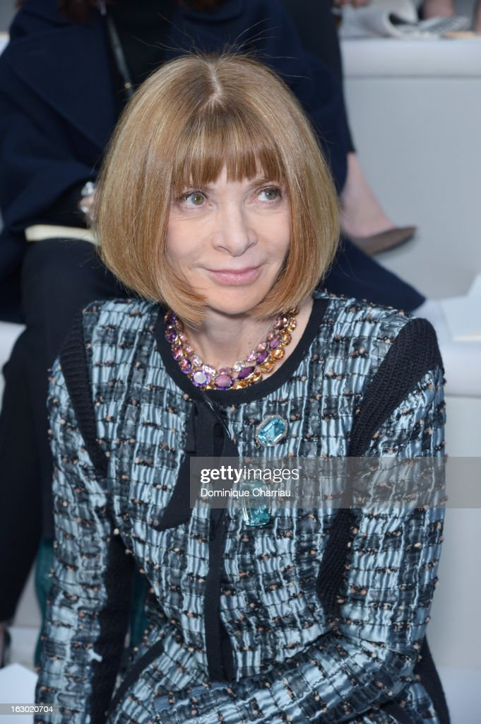 Anna Wintour attends the Chloe Fall/Winter 2013 Ready-to-Wear show as part of Paris Fashion Week on March 3, 2013 in Paris, France.