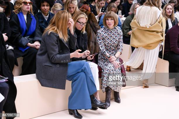 Anna Wintour attends the Chloe show as part of the Paris Fashion Week Womenswear Fall/Winter 2017/2018 on March 2 2017 in Paris France