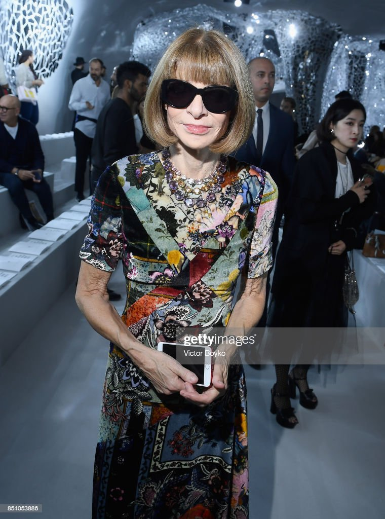 Anna Wintour attends the Christian Dior show as part of the Paris Fashion Week Womenswear Spring/Summer 2018 on September 26, 2017 in Paris, France.