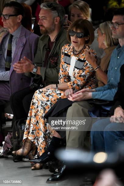Anna Wintour attends the Christopher Kane show during London Fashion Week September 2018 at Tate Modern on September 17 2018 in London England