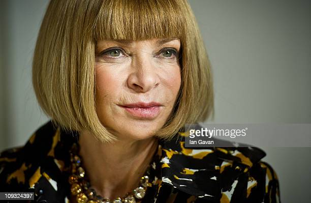 Anna Wintour attends the Christopher Kane show during London Fashion Week Autumn/Winter 2011 at Sheldon Square on February 21 2011 in London England