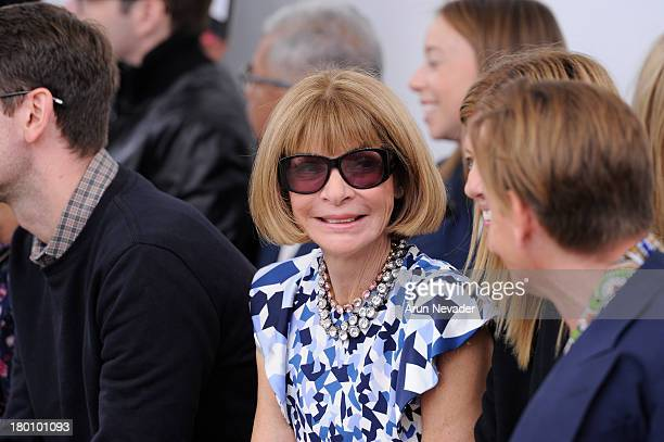 Anna Wintour attends the Derek Lam fashion show during MercedesBenz Fashion Week Spring 2014 at Sean Kelly Gallery on September 8 2013 in New York...