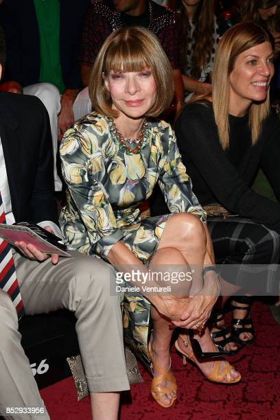 Anna Wintour attends the Dolce Gabbana show during Milan Fashion Week Spring/Summer 2018 on September 24 2017 in Milan Italy