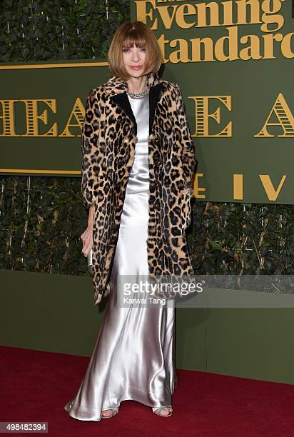 Anna Wintour attends the Evening Standard Theatre Awards at The Old Vic Theatre on November 22 2015 in London England
