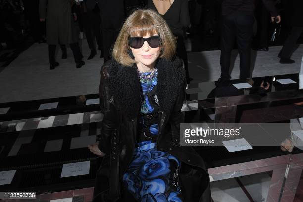Anna Wintour attends the Giambattista Valli show as part of the Paris Fashion Week Womenswear Fall/Winter 2019/2020 on March 04, 2019 in Paris,...