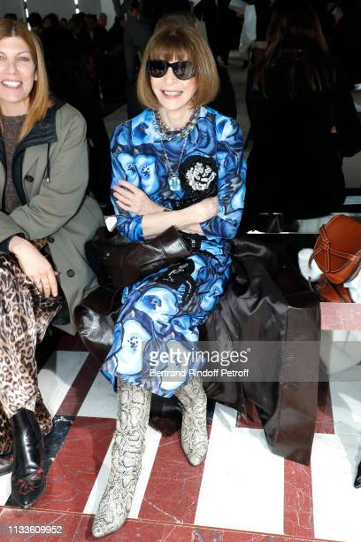 Anna Wintour attends the Giambattista Valli show as part of the Paris Fashion Week Womenswear Fall/Winter 2019/2020 on March 04 2019 in Paris France