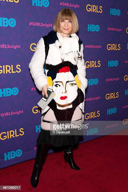 Anna Wintour attends the Girls season three premiere at Jazz at Lincoln Center on January 6 2014 in New York City