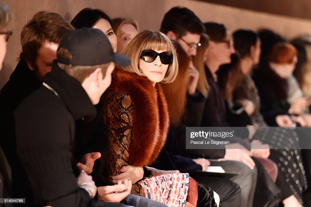 Anna Wintour attends the Givenchy show as part of the Paris Fashion Week Womenswear Fall/Winter 2016/2017 on March 6, 2016 in Paris, France.