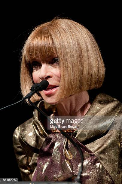 Anna Wintour attends the Gordon Parks Foundation's Celebrating Spring fashion awards gala at Gotham Hall on June 2 2009 in New York City