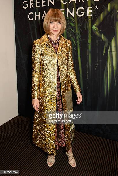 Anna Wintour attends the Green Carpet Challenge 2016 BAFTA Night to Remember on September 18 2016 in London England