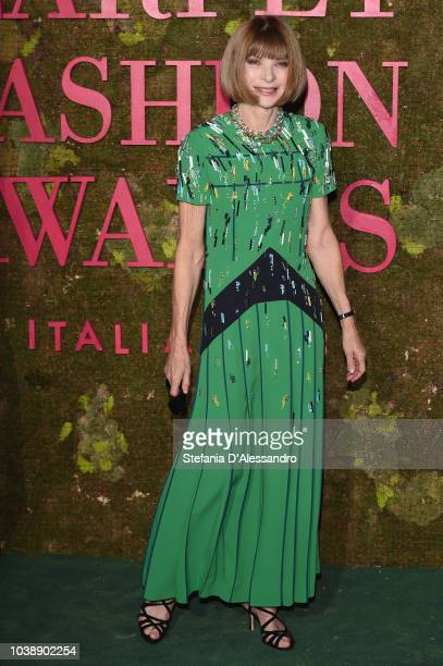Anna Wintour attends the Green Carpet Fashion Awards at Teatro Alla Scala on September 23 2018 in Milan Italy