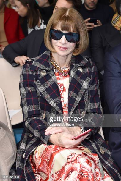 Anna Wintour attends the Gucci show during Milan Fashion Week Fall/Winter 2018/19 on February 21 2018 in Milan Italy