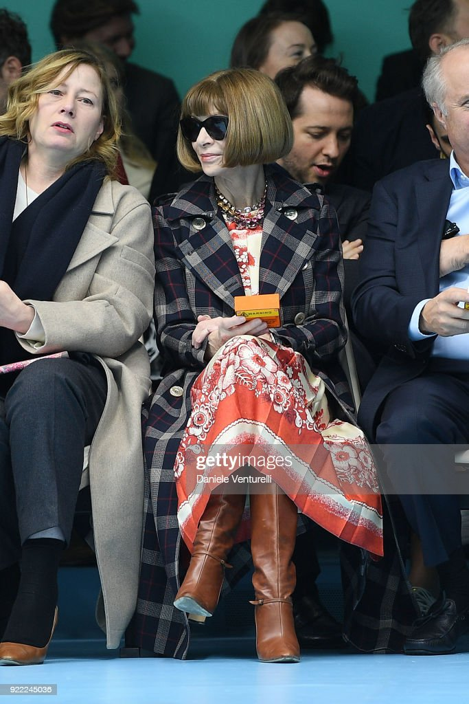 Anna Wintour attends the Gucci show during Milan Fashion Week Fall/Winter 2018/19 on February 21, 2018 in Milan, Italy.