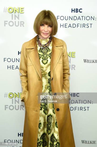 Anna Wintour attends the HBC Foundation HEADFIRST Cocktail Reception at L'Avenue at Saks on May 14 2019 in New York City