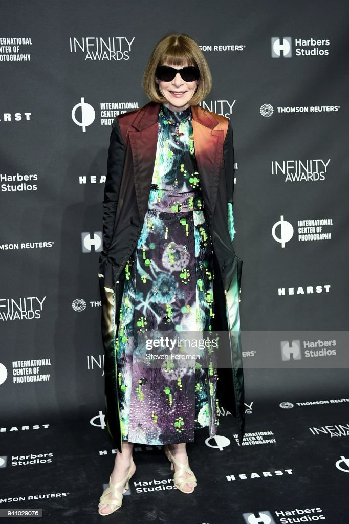 Anna Wintour attends the International Center of Photography's 2018 Infinity awards on April 9, 2018 in New York City.