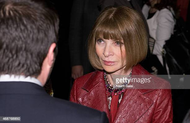 Anna Wintour attends the Jeffrey Fashion Cares 2015 at ArtBeam on April 6 2015 in New York City