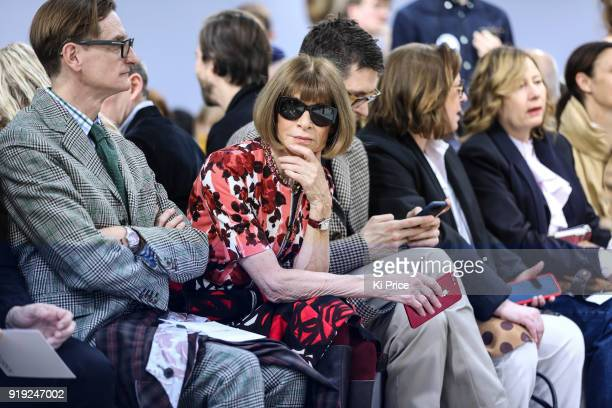 Anna Wintour attends the JW Anderson show during London Fashion Week February 2018 at Yeomanry House on February 17 2018 in London England