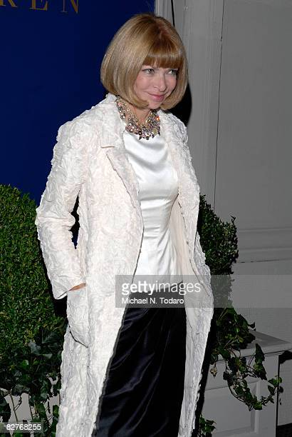 Anna Wintour attends the Lebron James Family Foundation Benefit for an evening of cocktails and private shopping at the Ralph Lauren Mansion on...