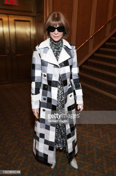 Anna Wintour attends the Lincoln Center American Songbook Gala honoring Bonnie Hammer at Broadway Theatre on January 29, 2020 in New York City.