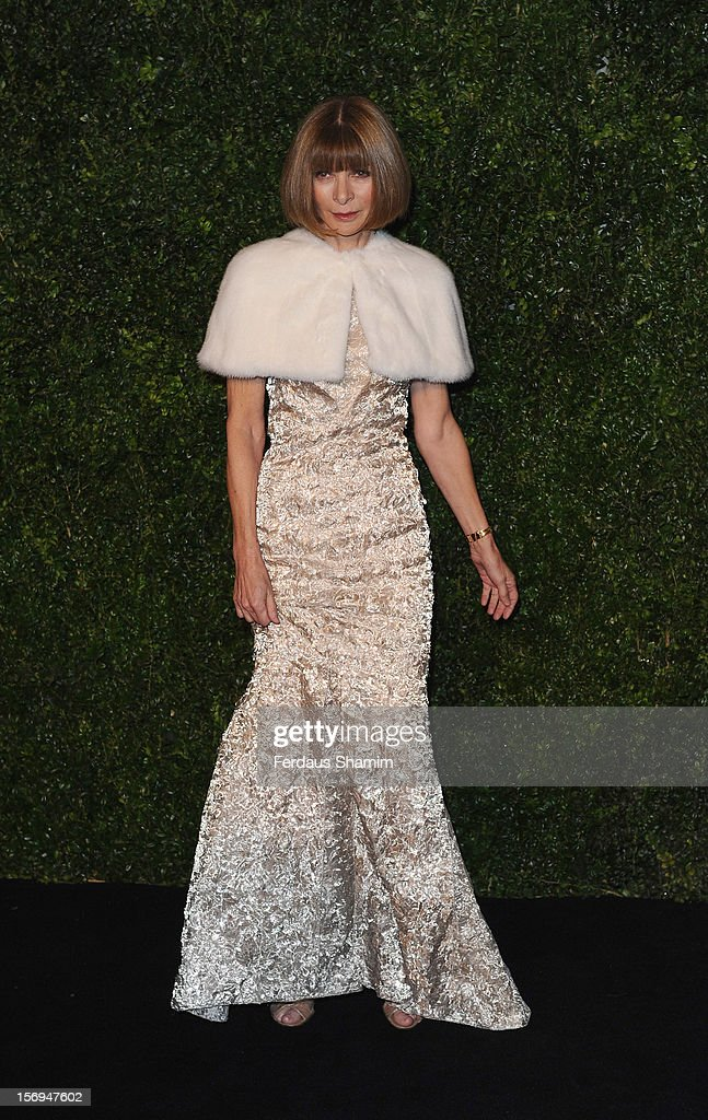 Anna Wintour attends the London Evening Standard Theatre Awards on November 25, 2012 in London, England.