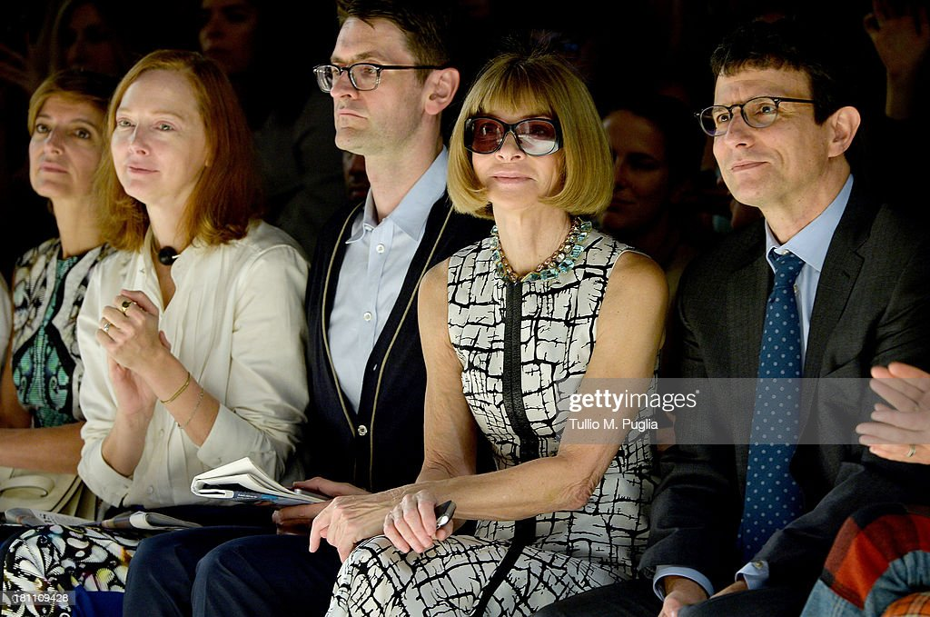 Anna Wintour attends the Max Mara show as a part of Milan Fashion Week Womenswear Spring/Summer 2014 on September 19, 2013 in Milan, Italy.