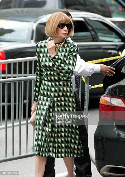 Anna Wintour attends the memorial service for L'Wren Scott at St Bartholomew's Church on May 2 2014 in New York City Fashion designer L'Wren Scott...