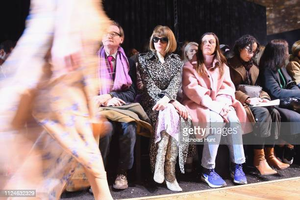 Anna Wintour attends the Michael Kors Collection Fall 2019 Runway Show at Cipriani Wall Street on February 13 2019 in New York City