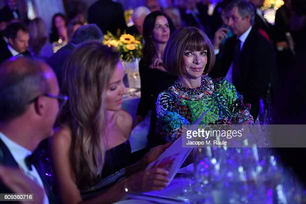 Anna Wintour attends the Milano Gala Dinner benefitting the Novak Djokovic Foundation presented by Giorgio Armani at Castello Sforzesco on September...
