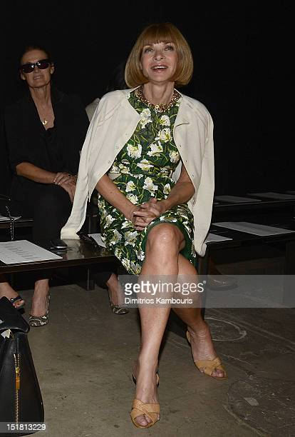 Anna Wintour attends the Narciso Rodriguez spring 2013 fashion show during MercedesBenz Fashion Week at SIR Stage37 on September 11 2012 in New York...