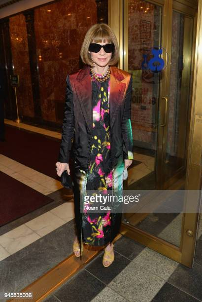Anna Wintour attends the opening night for 'Carousel' on Broadway at Imperial West on April 12 2018 in New York City