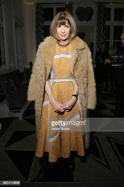 Anna Wintour attends the party for Dasha Zhukova' cover for Wall Street Journal on January 27 2015 in Paris France