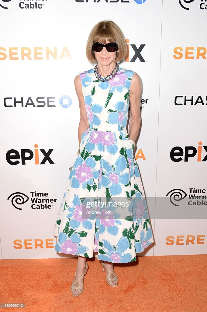 Anna Wintour attends the premiere of EPIX original documentary 'Serena' at SVA Theater on June 13, 2016 in New York City.