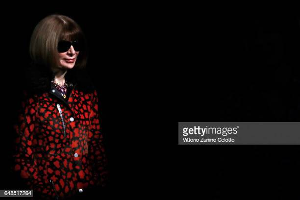 Anna Wintour attends the 'Rei Kawakubo Comme Des Garcons Art Of The InBetween' Presentation as part of the Paris Fashion Week Womenswear Fall/Winter...