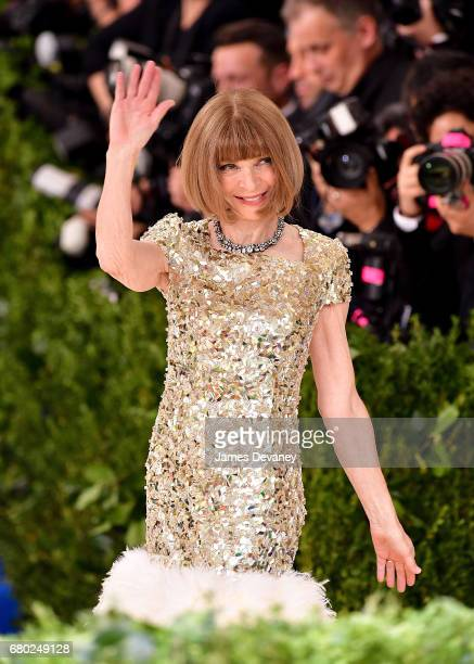 Anna Wintour attends the 'Rei Kawakubo/Comme des Garcons Art Of The InBetween' Costume Institute Gala at Metropolitan Museum of Art on May 1 2017 in...