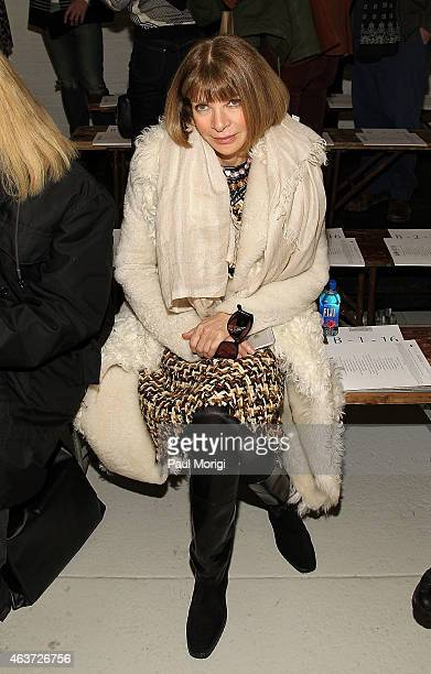 Anna Wintour attends the Rodarte fashion show during MercedesBenz Fashion Week Fall 2015 at Center 548 on February 17 2015 in New York City
