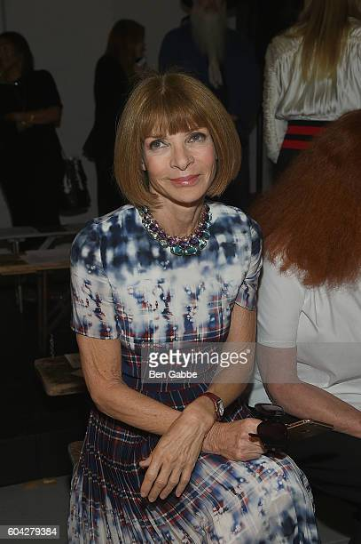 Anna Wintour attends the Rodarte fashion show during New York Fashion Week September 2016 at Center 548 on September 13 2016 in New York City