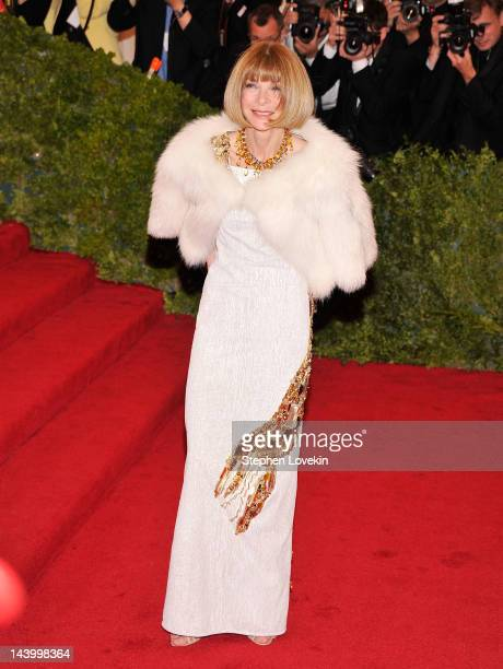 Anna Wintour attends the Schiaparelli And Prada Impossible Conversations Costume Institute Gala at the Metropolitan Museum of Art on May 7 2012 in...
