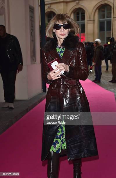 64d204c4a586 Anna Wintour attends the Schiaparelli show as part of Paris Fashion Week Haute  Couture Spring/
