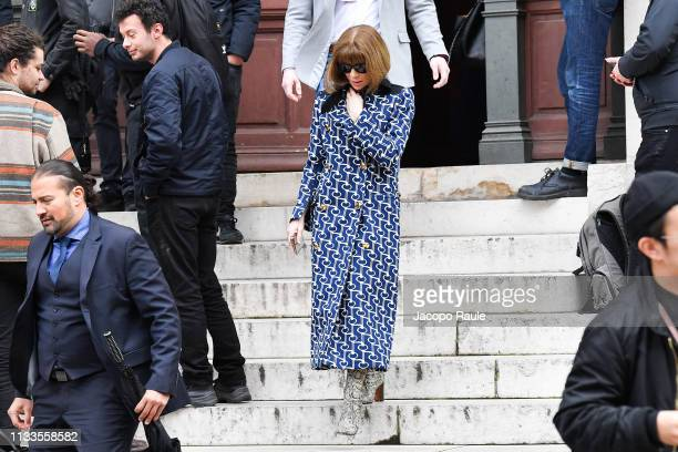 Anna Wintour attends the Stella McCartney show as part of the Paris Fashion Week Womenswear Fall/Winter 2019/2020 on March 04 2019 in Paris France
