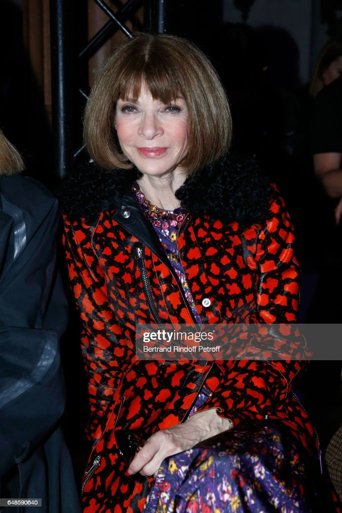 Anna Wintour attends the Stella McCartney show as part of the Paris Fashion Week Womenswear Fall/Winter 2017/2018 on March 6, 2017 in Paris, France.